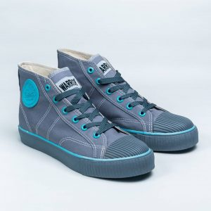 sepatu warrior classic hc high abu hijau