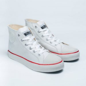 sepatu warrior classic hc high putih white