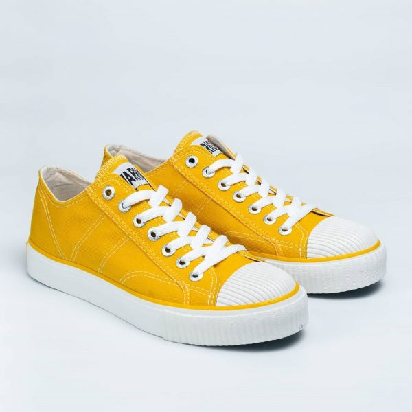 sepatu warrior classic lc low sun flower kuning yellow