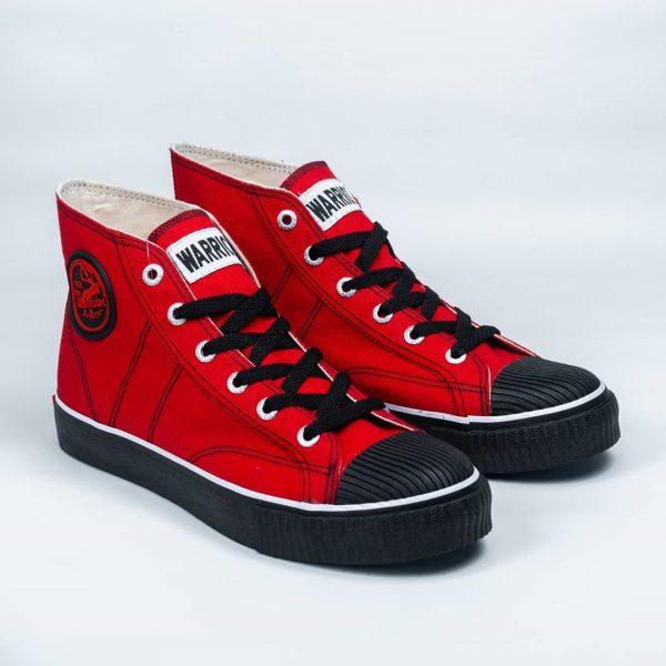 warrior classic hc high merah hitam red black