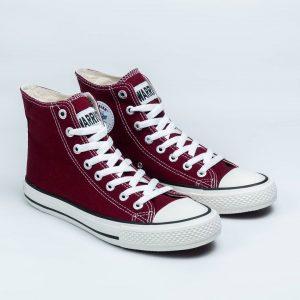 sepatu warrior sparta hc high maroon